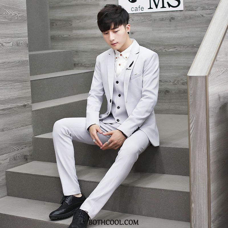 Suits Mens Shop Online Trend Europe Wedding Men Slim Fit Handsome White
