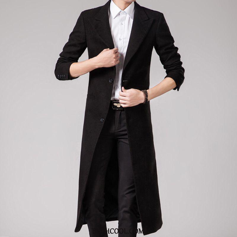 Blazer Mens Buy Casual Coat Winter Woolen Men's Long Section