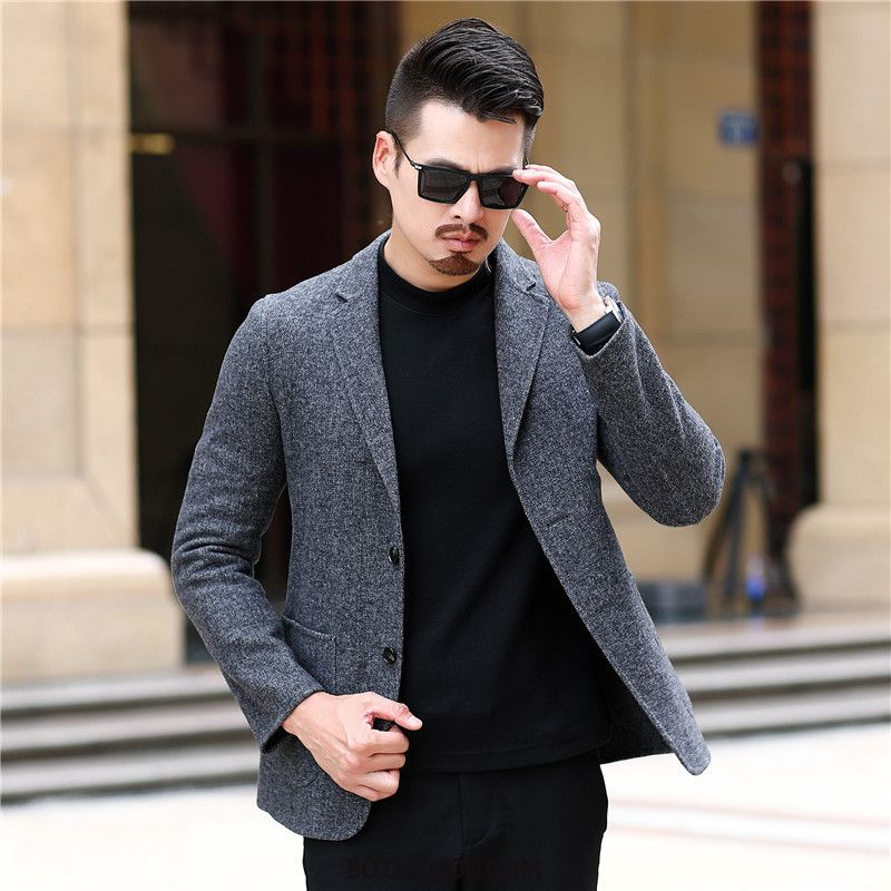 Blazer Mens Discount Suit New Europe Wool Casual Youth