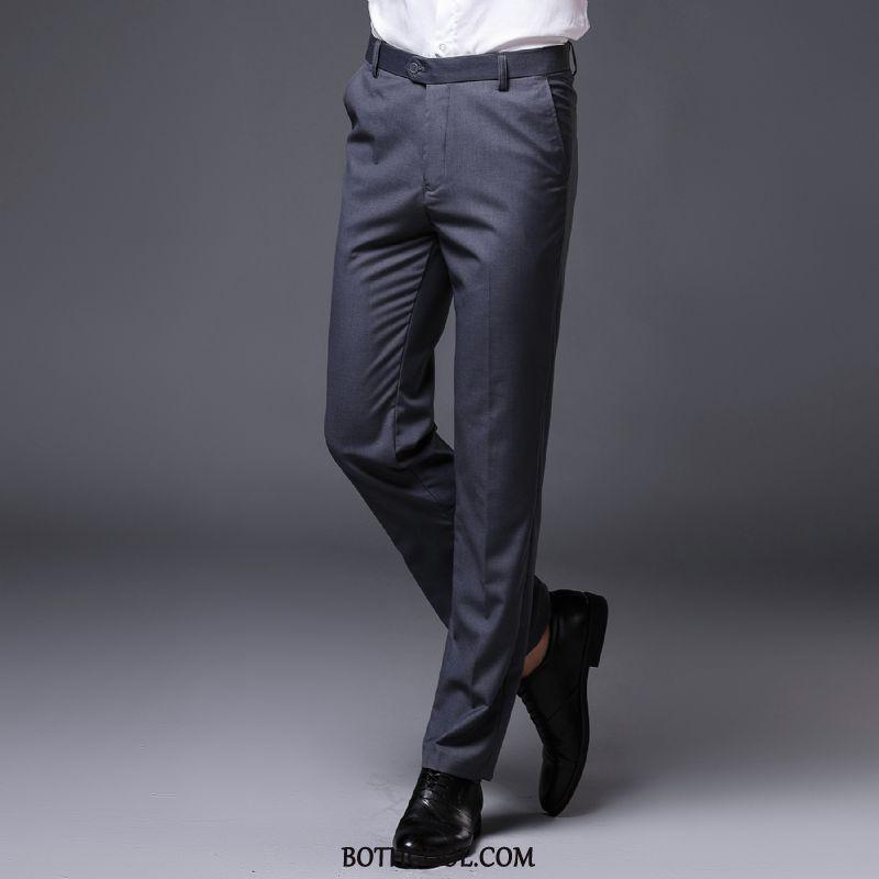 Suit Pants Mens Cheap Autumn Office Men's Straight Suit Pants Formal Suit Red Black
