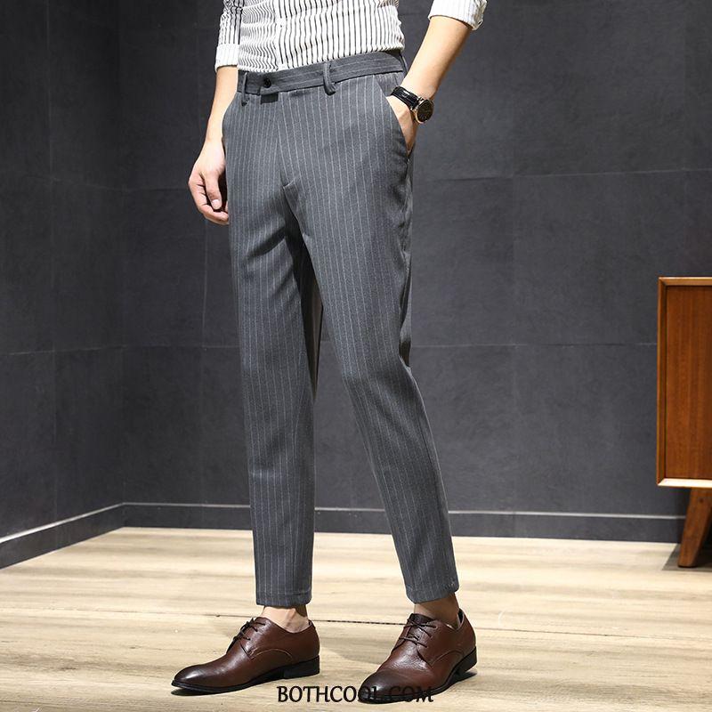 Pantaloni Da Abito Uomo Vendita Pantaloni Da Abito Autunno Striscia 2019 Marchio Di Tendenza Moda