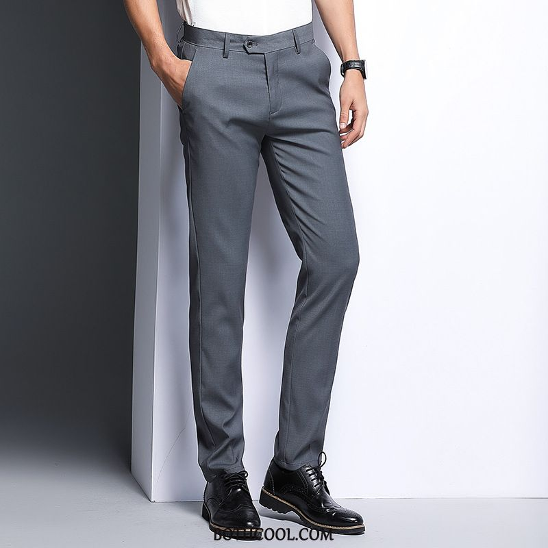 Pantaloni Da Abito Uomo Scontati Business Uomo Piccola Pantaloni Casual Slim Fit 2019