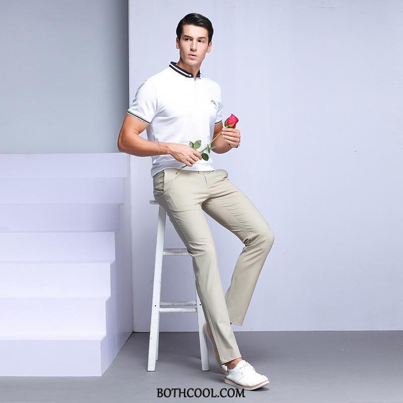 Pantaloni Da Abito Uomo Economiche Business 2019 Dritto Gioventù Casual Slim Fit
