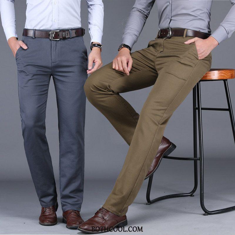 Pantaloni Da Abito Uomo In Vendita Autunno Spessore Mezza Età Dritto Larghi Pantaloni Da Abito