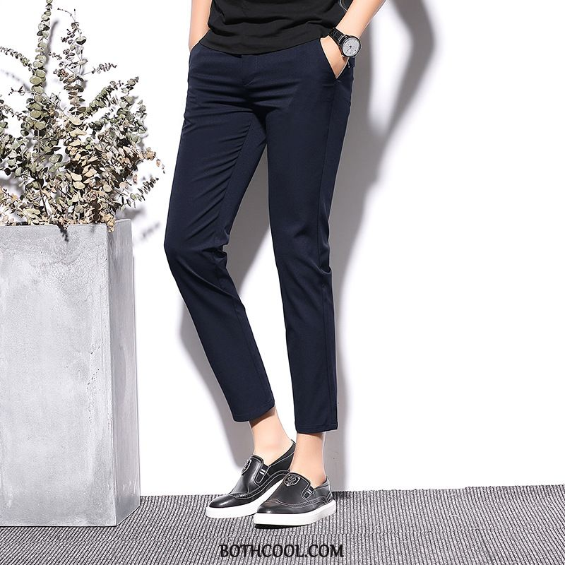 Pantaloni Da Abito Uomo Economici Alto Moda 2019 Slim Fit Pantaloni Da Abito Piccola