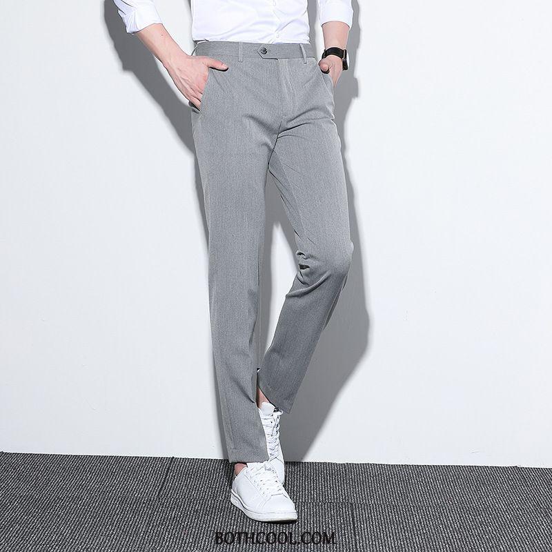 Pantaloni Da Abito Uomo Economici Lunga Pantaloni Casual Slim Fit Dritto Business Gioventù