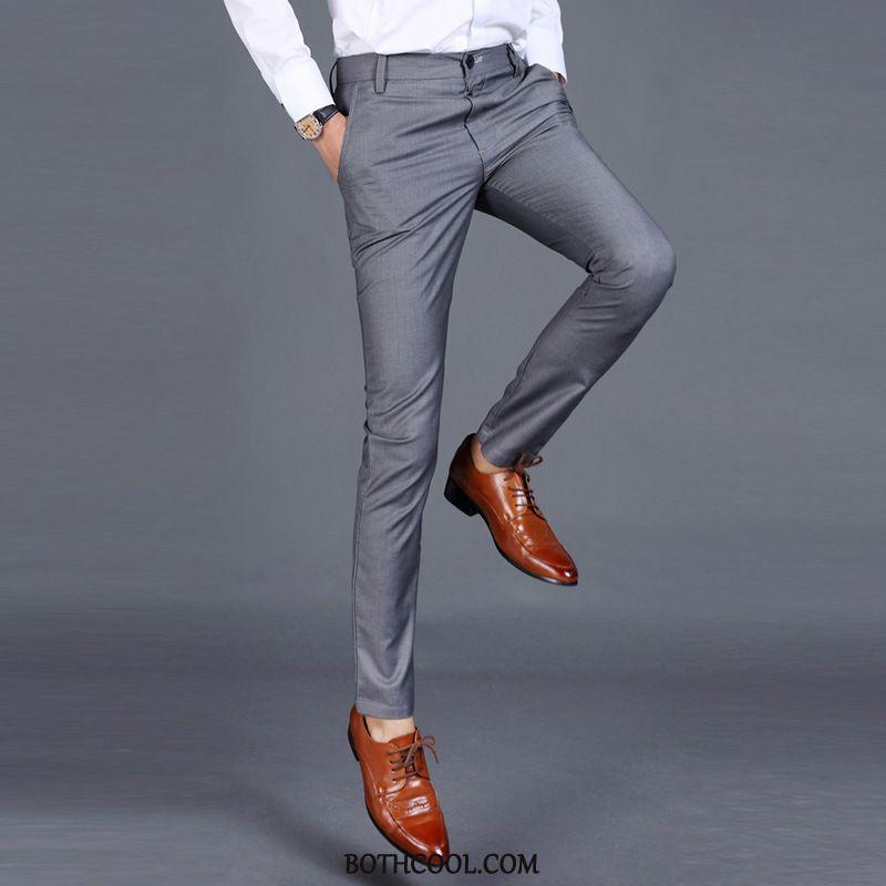 Suit Pants Mens Online Sale Autumn Men's Formal Suit Skinny Solid Color Trousers