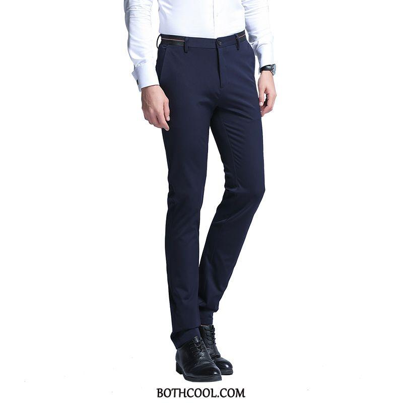 Suit Pants Mens Online Sale Casual Elasticity Trousers New Slim Fit Suit Pants