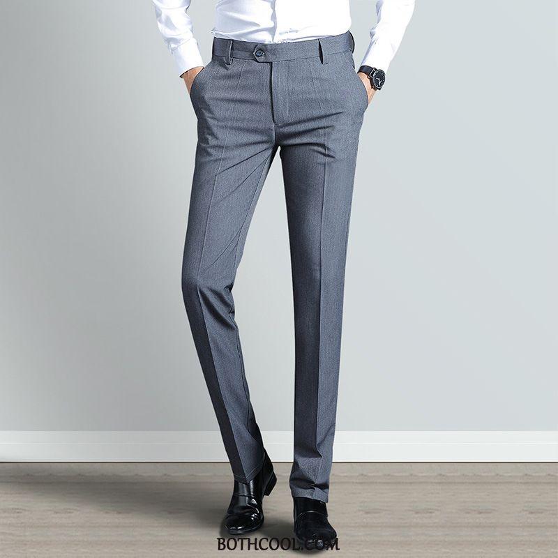 Pantaloni Da Abito Uomo In Vendita Dritto Pantaloni Casual Slim Fit Casual Pantaloni Da Abito Moda