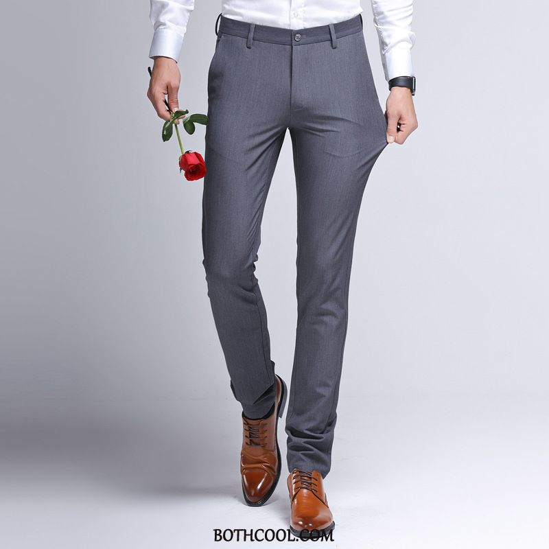 Pantaloni Da Abito Uomo On Line Pantaloni Da Abito Autunno Pantaloni Casual Slim Fit Business 2019