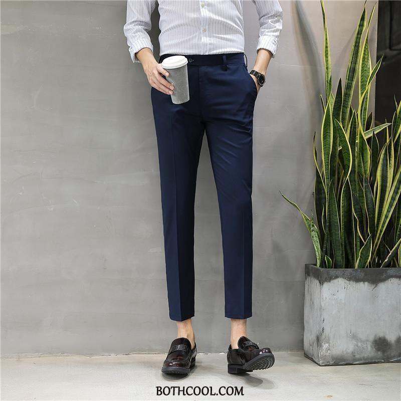 Pantaloni Da Abito Uomo Economica Casual Autunno Slim Fit Elastico Uomo 2019