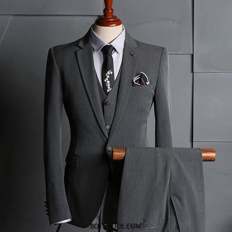Suits Mens Cheap Casual Slim Fit Business Set Suit Men