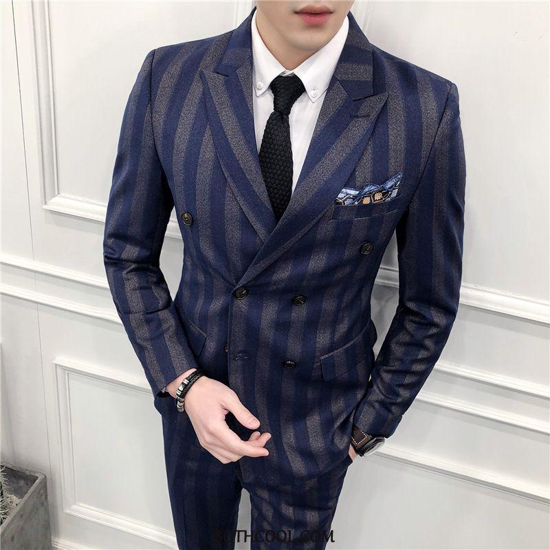 Suits Mens Discount Online Three Sets British Formal Suit Bridegroom Wedding Slim Fit