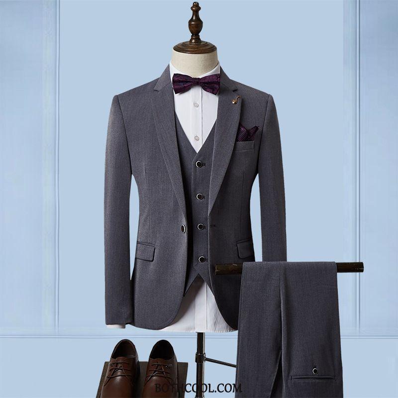 Suits Mens Discount Three Sets Formal Suit Set Europe Slim Fit Suit