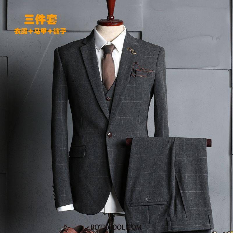 Suits Mens For Sale Suit Slim Fit Business Formal Suit Men's Professional Silver
