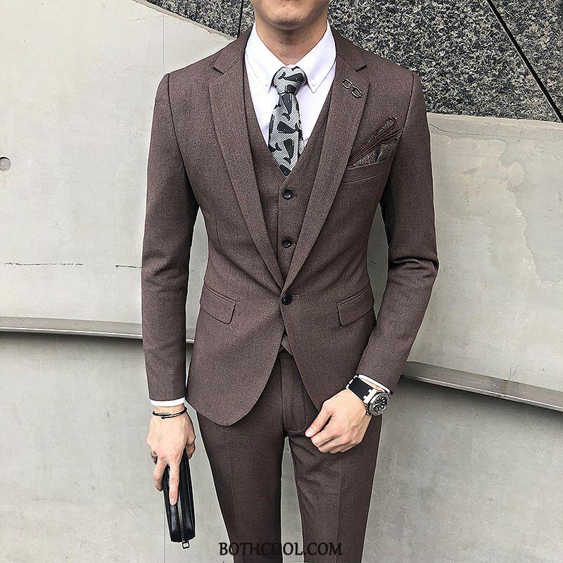 Suits Mens Online Sale Wedding Bridegroom Men's Business Three Sets Suit